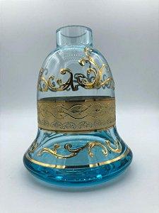 Vaso Pequeno Azul e Dourado