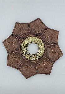Prato Flowers - Bronze e Dourado 2