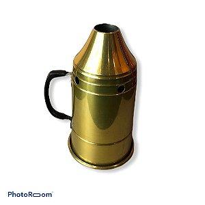 Abafador p/ narguile MG hookah - Dourado
