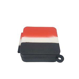 Slick Silicone Quadrado Médio - Vermelho/Branco/Preto