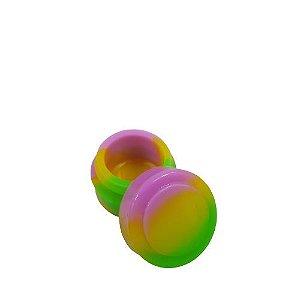 Slick Silicone Pequeno - Verde/Amarelo/ Rosa