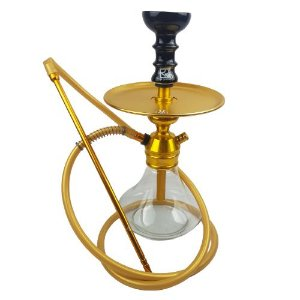 Narguile Completo TRITON - Transparente/Dourado/Preto