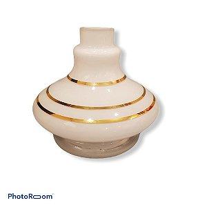 Vaso Aladin Especial - Branco e Dourado