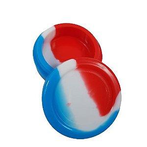 Slick Silicone Grande - Azul/Branco/Vermelho
