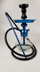 Narguile Completo TRITON - Azul/Transparente/Preto