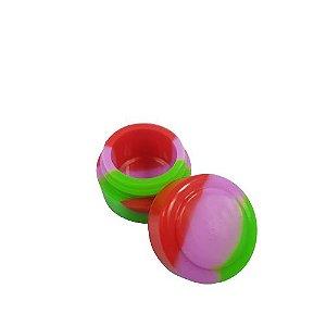 Slick Silicone Pequeno - Vermelho/Rosa/Verde