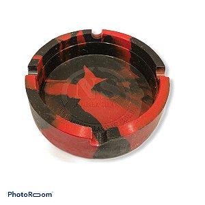 Cinzeiro de Silicone Vermelho/Preto