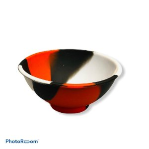 Cuia de Silicone Média - Branco/Vermelho/Preto