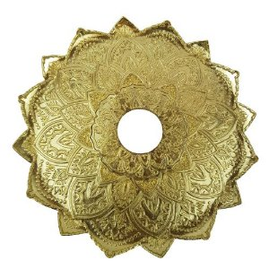 Prato Flowers Malik Hookah - Dourado
