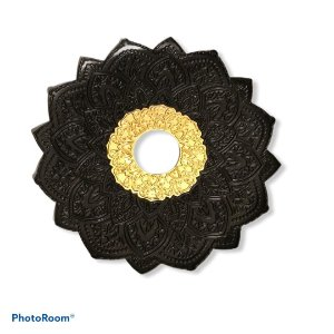 Prato Flowers Malik Hookah - Preto e Dourado
