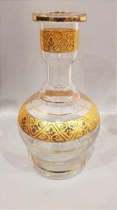 Vaso Grande Jumbo MD - Transparente e Dourado