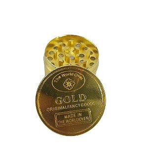 Dichavador Metálico 3 Partes Gold - Dourado