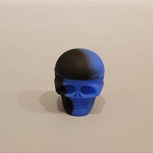 Slick de Silicone Pequeno Caveira - Azul e Preto