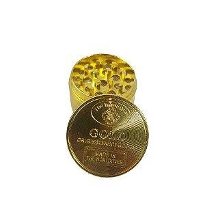 Dichavador Metálico Pequeno 3 Partes Gold - Dourado