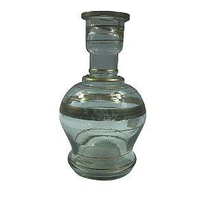 Vaso Médio Jumbo - Transparente e Dourado