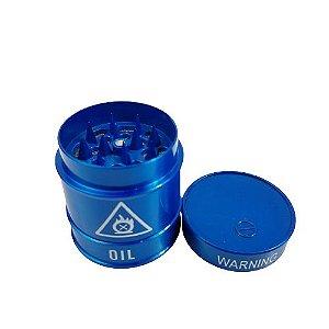 Dichavador Metálico 3 Partes Warning - Azul
