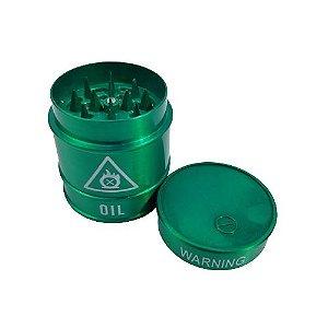 Dichavador Metálico 3 Partes Warning - Verde