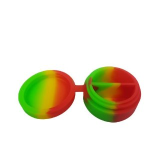 Slick de Silicone Médio com Divisória - Verde/Vermelho e Amarelo
