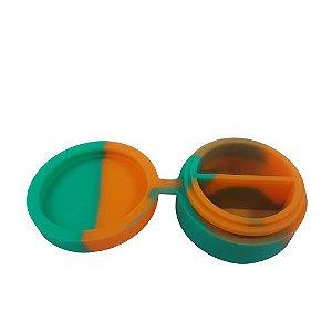 Slick de Silicone Médio com Divisória - Verde e Laranja