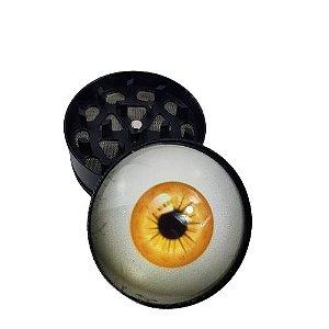 Dichavador Metálico 3 Partes Olho - Amarelo