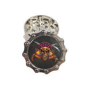 Dichavador Metálico 3 Partes - Caveira Pirata