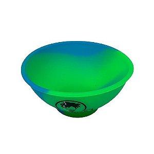 Cuia de Silicone Media - Verde e Azul
