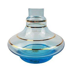 Vaso Aladin Especial - Azul com Listra Dourada