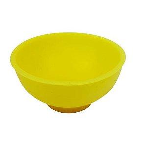 Cuia de Silicone Media - Amarelo