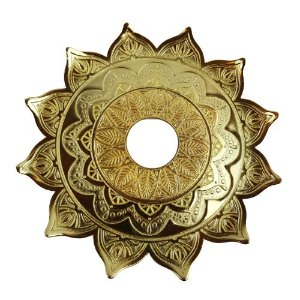 Prato Flowers Aquila Hookah - Dourado