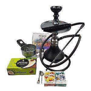 Kit Narguile Completo Amazon Kombat - Onix + 2 Essencias Brinde