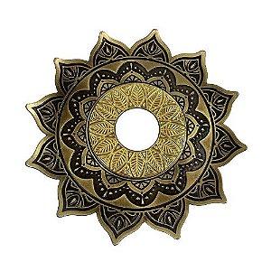 Prato Flowers Aquila Hookah - Bronze e Dourado