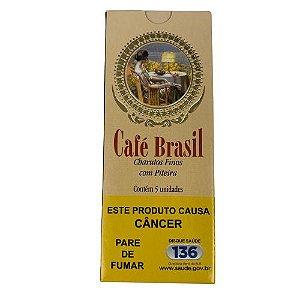 Charuto Café Brasil Com Piteira - Tradicional