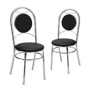 Kit 2 Cadeiras Cromadas Denver Tre Paroni