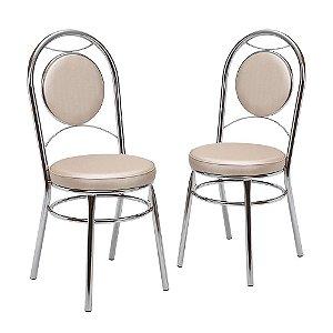 Kit 2 Cadeiras Cromadas Debrum Aberdeen Tre Paroni