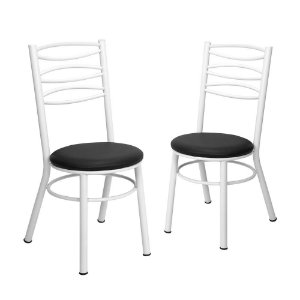 Kit 2 Cadeiras Pintadas Brancas Munique Tre Paroni