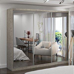 Guarda-Roupa Casal 3 Portas com 3 Espelhos 100% MDF Demolição Foscarini