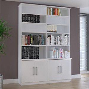 Estante de livros 4 Portas Branco Foscarini