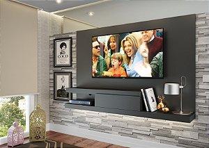 Painel para TV até 50 polegadas c/ 1 gaveta Grafite - Quiditá