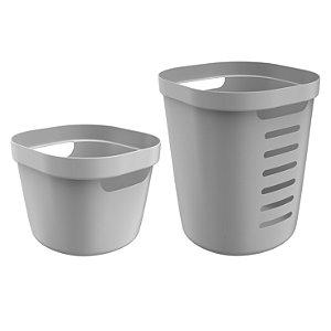 Conjunto de Cestos Organizadores Flexível Cube Flex Ou Chumbo