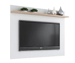 Painel para TV até 50 polegadas Benevello 2035 Branco/Siena - Quiditá