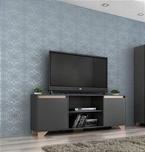 Rack para TV até 55 Polegadas 2 portas 2032 Grafite/Siena - Quiditá