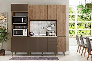 Cozinha Completa Modulada 4 Peças c/ Paneleiro Madeira/Oxid - Be