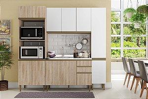 Cozinha Completa Modulada 4 Peças c/ Paneleiro Aveiro/Branco - Be