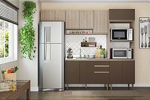 Cozinha Completa Modulada 4 Peças c/ Basculante Aveiro/Oxid - Be