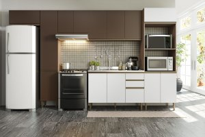 Cozinha Completa Modulada 6 Peças Aveiro/Oxid/Branco - Be