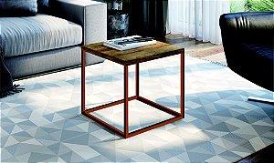 Mesa Auxiliar Quadrada Cube M Vermont/Cobre Industrial Artesano