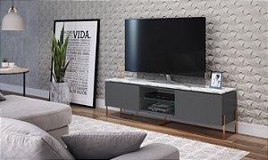 Rack 2 Portas Vesta Thassos/Manhatan/Cobre para TV até 58 Polegadas Artesano