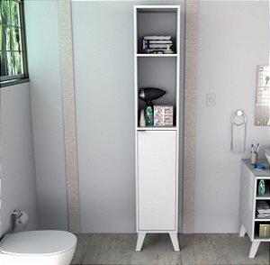 Armário Multiuso 1 porta e 4 prateleiras Slin Appunto Branco