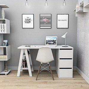 Mesa Escrivaninha Self com gavetas Appunto Branco