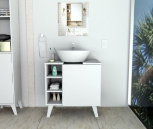 Gabinete para Banheiro Slin Appunto Branco